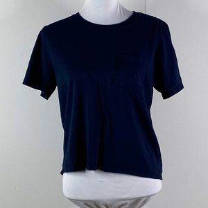 everlane women's navy blue cotton shirt SZ M